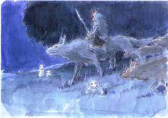 Hayao Miyazaki, Princess Mononoke Wallpaper, Art Studio Ghibli, Studio Ghibli Background, Castle In The Sky, Ghibli Movies, Walt Disney, Animation, Fan Art
