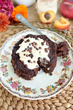 Chocolate Zucchini Pancake: they look sinful, but they're actually super healthy!