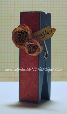 Giant Clothespin Photo Holder...Great Idea