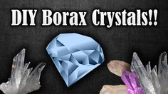 How to make crystals at home with borax | make any shape and size you wa...