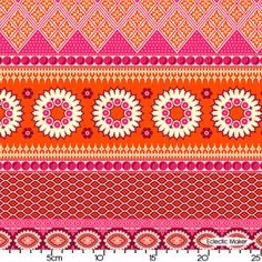 Joel Dewberry Notting Hill Banded Bliss in Tangerine Joel Dewberry Notting Hill Banded Bliss in Tangerine fabric for patchwork quilting and dressmaking from Eclectic Maker [PWJD061 Tangerine] : Patchwork, quilting and dressmaking fabric, patterns, habberdashery and notions from Eclectic Maker