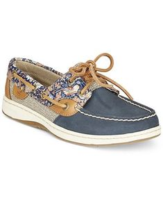 Sperry Women's Bluefish Linen Oat Boat Shoes - Sperry - Shoes - Macy's