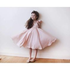 Pink girls butterfly dress 5003