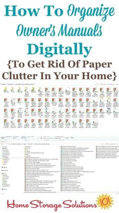 How to organize owner's manuals digitally so that you can get rid of even more paper clutter in your home {featured on Home Storage Solutions 101}