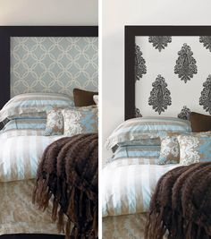 Customize your headboard with this easy DIY wallpaper project from Joann.com