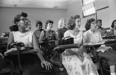 September 1957 - Integrated Classroom At Anacostia High, Washington DC