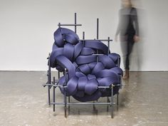 Abstract Interwoven Cushion Chairs - The 'Lawless' Metal Frame Chair Deconstructs Materials (GALLERY)