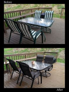 Redo Your Old, Outdated Patio Set Using Spray Paint! Used 5 Cans Of  Rustoleum