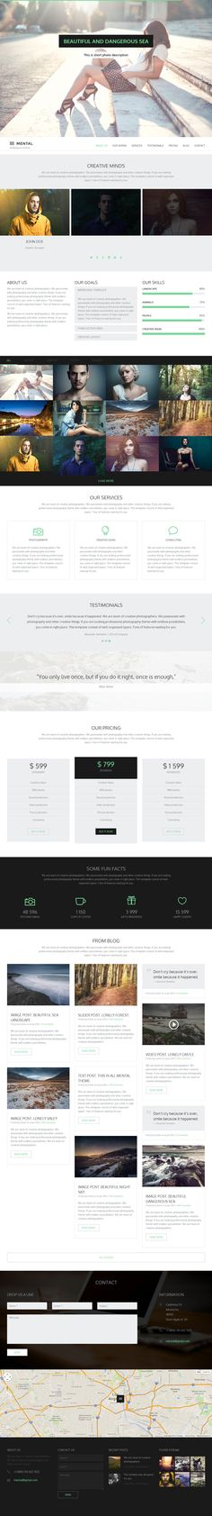 Parallax Website Template Glamour Is Premium Full Responsive Retina Html5 Corporate Template