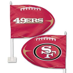 San Francisco 49ers Football Shaped Car Flag - Sportsfan