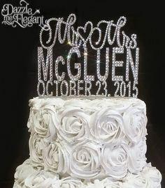 Personalized Acrylic Cake Topper - Snowflake - WeddingDepot.com ...