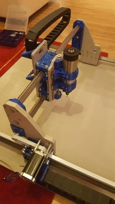 printer design printer projects printer diy printer printer Root 3 CNC multitool router printed parts by sailorpete - Thingiverse. Cnc Router Parts, Diy Cnc Router, Cnc Router Machine, Cnc Parts, Wood Router, Router Table, Homemade Cnc Router, Plotter Cutter, Arduino Cnc