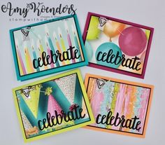 Stampin' Up! Picture Perfect Birthday Cards for Happy Inkin' Thursday Blog Hop – Stamp With Amy K