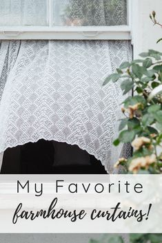 Affordable Farmhouse Curtain Options 2019 My top picks for Affordable Farmhouse Curtains all in one post! These are my choice whenever Im looking to update my vintage farmhouse. Definitely my top picks for those decorating a farmhouse on a budget! Vintage Kitchen Curtains, Farmhouse Kitchen Curtains, Farmhouse Bedroom Decor, Farmhouse Style Kitchen, Vintage Farmhouse Decor, Diy Curtains, Decorating, Budget, Curtain Call