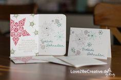 Love2BeCreative.de Stampin' Up!  Weihnachtskarten / Christmas Cards  Anlässe und Feiertage, Farben / Colors, Flüsterweiß / Whisper White, Glutrot / Real Red, In-Colors 2014 - 2016, Karten, Lagunenblau / Lost Lagoon, Savanne, Schiefergrau / Smoky Slate, Signalfarben / Brights, Stampin' Up! Workshop, Waldmoos / Mossy Meadow, Weihnachten, Wünsche zum Fest, Zauber der Weihnacht