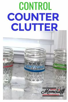 Cups on the counter all the time? You unload the dishwasher only to fill it up with what's on the counter? Here are a few ideas to help keep you sane and control the counter clutter! Different ideas on how to get each family member to use this system and reuse thier glass!