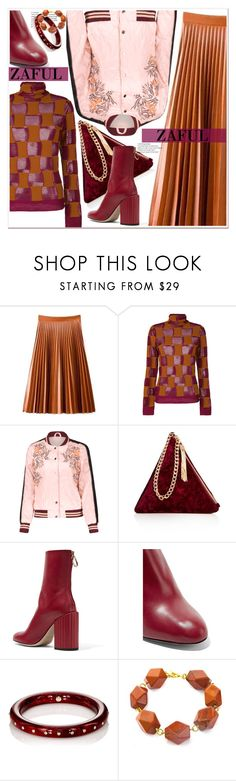 """Zaful Bomber Jackets"" by spenderellastyle ❤ liked on Polyvore featuring Marni, Street Level, Petar Petrov, Mark Davis and Salome"