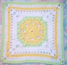 SmoothFox Crochet and Knit: SmoothFox's Lemony Lime Citrus Square 12x12 Free Pattern
