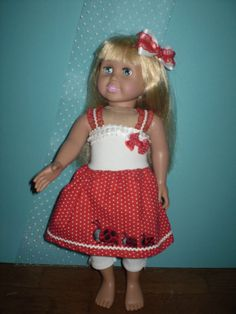 American Girl Doll Clothes-Lady bug