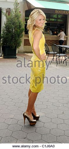 Kelly Ripa attends the Kelly Ripa and Electrolux Virtual Lemonade Stand Campaign at Loeb Central Park Boathouse - Stock Image
