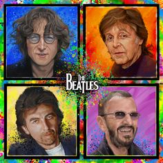 ©️Adam Howard / Adam Howard Art 2021 Award Winner, The Beatles, Inspire Me, Over The Years, Gifts For Friends, United States, Portrait, Illustration, Movies