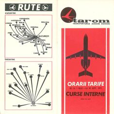 Tarom summer 1971 Timetable and route map Tarom Airlines, Turkey Airlines, Thing 1, Beirut, Zurich, Vintage Travel, Travel Posters, Romania, Istanbul