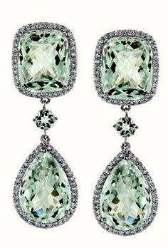 http://rubies.work/1022-multi-gemstone-ring/ Christian Dior Green Sapphire Ear Pendants