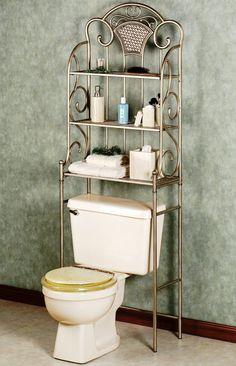 Estantes de hierro aseo baño estante baño higiénico marco