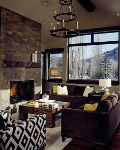 Fox Crossing Residence, Aspen Colorado Interior Design by Wright Interiors Colorado Homes, Aspen Colorado, Modern Mountain Home, Hearth And Home, Design Firms, Home Goods, Family Room, Furniture Design, Texas