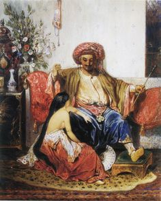 Haydee's Parents. The Athenaeum - The Favourite of the Pasha (Alexandre-Gabriel Decamps - )