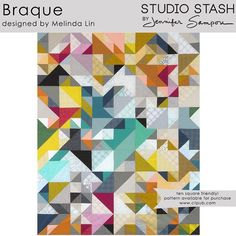 "Robert Kaufman Projects on Instagram: ""Braque designed by Melissa Lin. Features #studiostashfabric by @jennifersampou, shipping to stores January 2016. Ten square friendly!"""