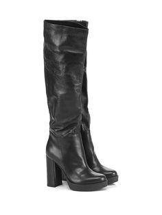 CHON - Stivali - Donna - Stivale in pelle con suola in gomma, tacco 115…