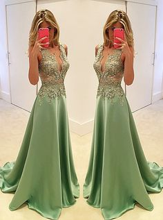 sexy prom dresses,lace prom dresses,green prom dresses,prom dresses with sleeves,long prom dresses @simpledress2480