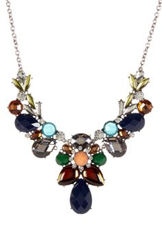 Decorative Multi-Stone Bib Necklace on HauteLook