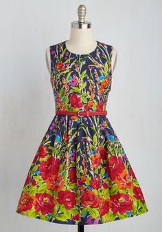 Get the Grow-Ahead Dress. You've got the green light to dress for success with this cotton frock! #multi #modcloth