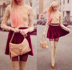 Everything Should be Made From Velvet | Velvet dress / skirt