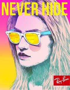 "Ray Ban ""Never Hide"" Campain by Joy Castiglione"