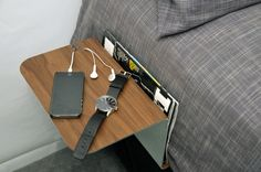 Living in a shoebox | A space-saving bedside table for tiny dwellings