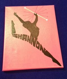 personalized baton twirler silhouette by commonsensicalcrafts, $25.00