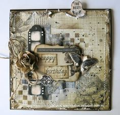 Mixed Media Birthday Card by Cathy Mc - Cards and Paper Crafts at Splitcoaststampers