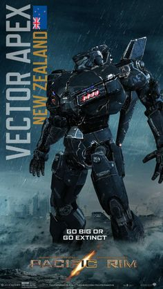 Pacific Rim Jaeger Poster round up Cyberpunk, Pacific Rim Jaeger, Gipsy Danger, Cool Robots, Mundo Comic, Robot Concept Art, Giant Monster Movies, Geek Art, Illustrations