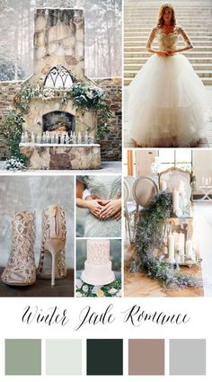 This romantic snowy winter wedding inspiration is like a wedding fairy tale come true! (Board by The Bridal Detective)