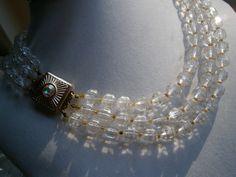 Perlenkette,60er Jahre Gala,Sixties,mehrreihig von kunstpause auf DaWanda.com