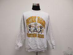 Vtg 90s Bike Notre Dame ND Fighting Irish Crewneck Sweatshirt sz XL Extra Large #Bike #NotreDameFightingIrish