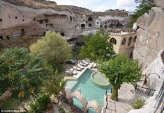Located near Urgup, Turkey, some of the 35-room hotel's doors and windows are more than 500 years old
