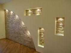 illuminated wall niches