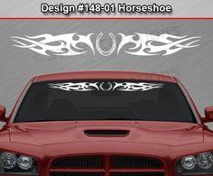 #159 DESIGN Tribal Swoosh Windshield Decal Back Window Sticker Vinyl Graphic Car