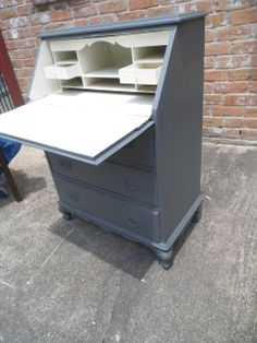 """This cute little piece would be perfect at your entrance where you drop off your keys, etc. Or you could use it as it was originally intended as a secretary desk.  The dimensions are 28"""" wide, 16"""" deep and 38"""" tall."""