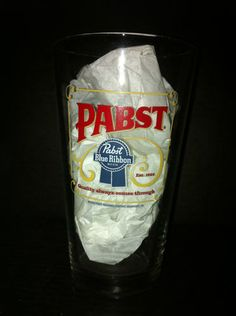 $4.99 Pabst Blue Ribbon Beer 16 oz Pint Glass | eBay