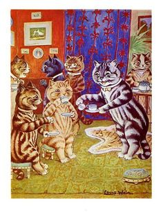 Afternoon at Home by Louis Wain